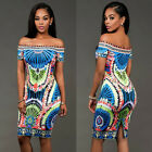 Women Summer Casual Bandage Bodycon Floral Evening Party Cocktail Mini Dress NEW