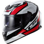 LS2 FF320 Full Face Helmet STREAM OMEGA BLACK WHITE RED