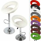 Swivel Breakfast Bar Stool Kitchen Chair Pub Stools Chromed Metal Gas Lift Set
