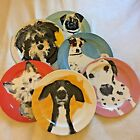Anthropologie Dog Art Plate ONE Lab Pug Jack Russell Labradoodle Dachshund a Day