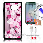 Samsung S6 Edge+ Plus 5.7' Case Cover Tempered Glass Film A4863 Dragonfly