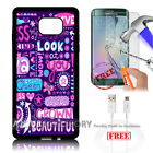Samsung S6 Edge+ Plus 5.7' Case Cover Tempered Glass Film A4877 Beautiful
