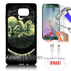 Samsung S6 Edge+ Plus 5.7' Case Cover Tempered Glass Film A4894 Art Paint