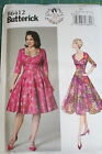 Butterick sewing pattern B6412 vintage dress sweetheart neckline Full skirt