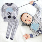 "Vaenait Baby Infant Toddler Kids Boys Clothes Pajama Set ""Feeling Bear"" 12M-7T"