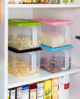 Bulk Food Storage Containers Food Airtight Coffee Bin Stackable Handle Freezer
