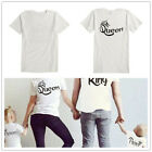 Family Matching T-shirts King Queen Parents and Daughter Son Matching Family Tee