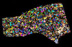 Meteorite NWA 6077 - Achondrite ungr. - High Quality Thin Section - STUNNING !!