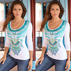 Fashion Women Casual Long Sleeve Stretch Round Scoop Neck T Shirt Top Tee Blouse