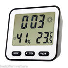 Multifunction Electronic Digital Thermometer Temperature Humidity Alarm Clock