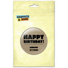 Happy Birthday Textured Kraft Design Personalized Refrigerator Button Magnet