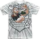 Popeye Anchored Sublimation Short Sleeve Men's T-Shirt S-3XL