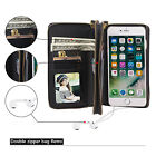 Fashion Detachable Zipper Wallet Phone Case Flip Card Cover For iPhone 5 5s SE