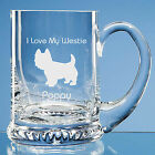 West Highland Terrier Dog Lover Gift Personalised Engraved Glass Tankard