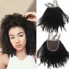 """Hot 3.5""""x4""""Afro Kinky curly 100% Brazilian Remy Human Hair lace frontal closure"""