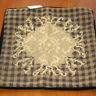 T136 Hand Stitched Wool Needlepoint Cushion Cover 15''