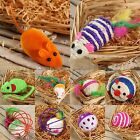 Funny Pet Dog Cat Scratch Catch Hamster Mouse Furry Feather Tail Play Ball Toys