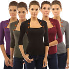 Summer Womens Fashion Loose Solid Cotton Tops Long Sleeve T-Shirt Casual Blouse