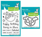 Lawn Fawn Stamps OR Die Set - Hang in There (LF1311 Stamps) OR (LF1312 Dies)