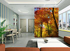 3D Yellow Leaves Tree Wall Paper Murals Wall Print Decal Wall Deco AJ WALLPAPER