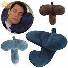 Portable J pillow Travel Pillow Head Chin Neck Support Back Cushion Headrest