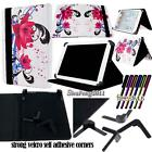 For Various 9* 10* Tablets Universal Folio Stand Leather Cover Case + STYLUS