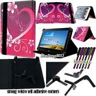 "Folio Stand Leather Cover Case For Various 7"" Huawei MediaPad Tablet + STYLUS"