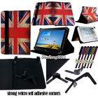 """Folio Stand Leather Cover Case For Various 7"""" Huawei MediaPad Tablet + STYLUS"""