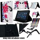 """Folio Stand Leather Cover Case For Various 7"""" MEDIACOM SmartPad Tablets + STYLUS"""
