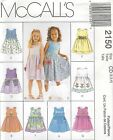 McCall's 2150 Toddlers' Dresses 2, 3, 4    Sewing Pattern