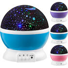USB Rotating LED Projector Starry Evening Lamp Star Sky Romantic Projection Lamp