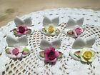 Vintage Coalport Flower Place name settings / Holders * Excellent Condition *