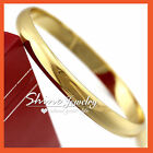 18K PLAIN GOLD GF SOLID COMFORT BAND LADY SLIP ON ROUND GOLF BANGLE MOTHER GIFT