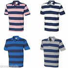 FRONT ROW STRIPED COTTON PIQUE POLO SHIRT XS-XXL FR210