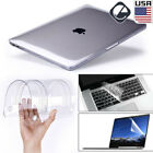 "Glossy Clear Hard Shell Case+Keyboard Cover For MacBook Air 11 Pro 13/15"" Retina"