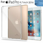 """For iPad Pro 9.7""""/12.9"""", Clear Ultral Slim Fit Silicone Soft TPU Back Case Cover"""