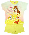 Girls Disney Princess Belle Beauty & The Beast Shorty Pyjamas 3 to 10 Years