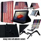 "Folio Flip Stand Leather Cover Case For 7"" 8"" 9"" Nobis TABLET + STYLUS"