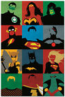super man poster - Justice League Minimalist Movie Anime Silk Poster Super Man Batman 13x20 24x36'