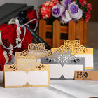 12/60 Colorful Heart Laser Cut Table Place Cards Name Number Wedding Party Decor