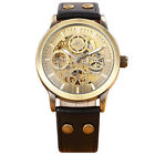 Fashion Man Watch Luxury Gold Hollow Auto Mechanical Self Wind Wrist Watch 8385