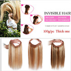"Fits like a Halo Hair Extensions 16""- 22"" - No Clip In One Piece Human Couture"
