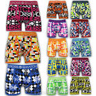 Mens Crosshatch Trunks Underwear Boxer Shorts Checked Stretch Casual Designer