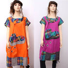 CX127 High Quality Fashion Casual Loose Fitting Gown Dress 100% Cotton M L XL
