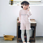 Toddler Girls Clothing Set Casual Kids Long Sleeve Tee Shirt+Jeans Suit Cotton