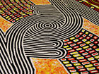 "ABORIGINAL ART PAINTING by NARPULA SCOBIE NAPURRULA ""WOMEN'S BODY PAINT"""