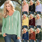 8 Colors Womens Fashion Long Sleeve Hooded Sweatshirt Casual Jacket Outwear Tops