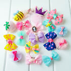 Small Dog Hair Bows Clips Holiday Accessories Yorkie Pet Dog Grooming Bows Lot