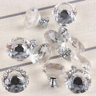 16pcs Diamond Cupboard Wardrob Door Knobs Clear Crystal Cabinet Draw Pull Handle