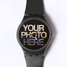 Plastic Watch Custom Watch Picture Personalised Customised Image Logo Photo Gift